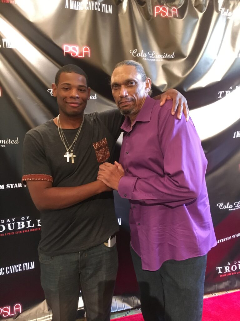 Young Thunder & actor Hawthorne James in LA.