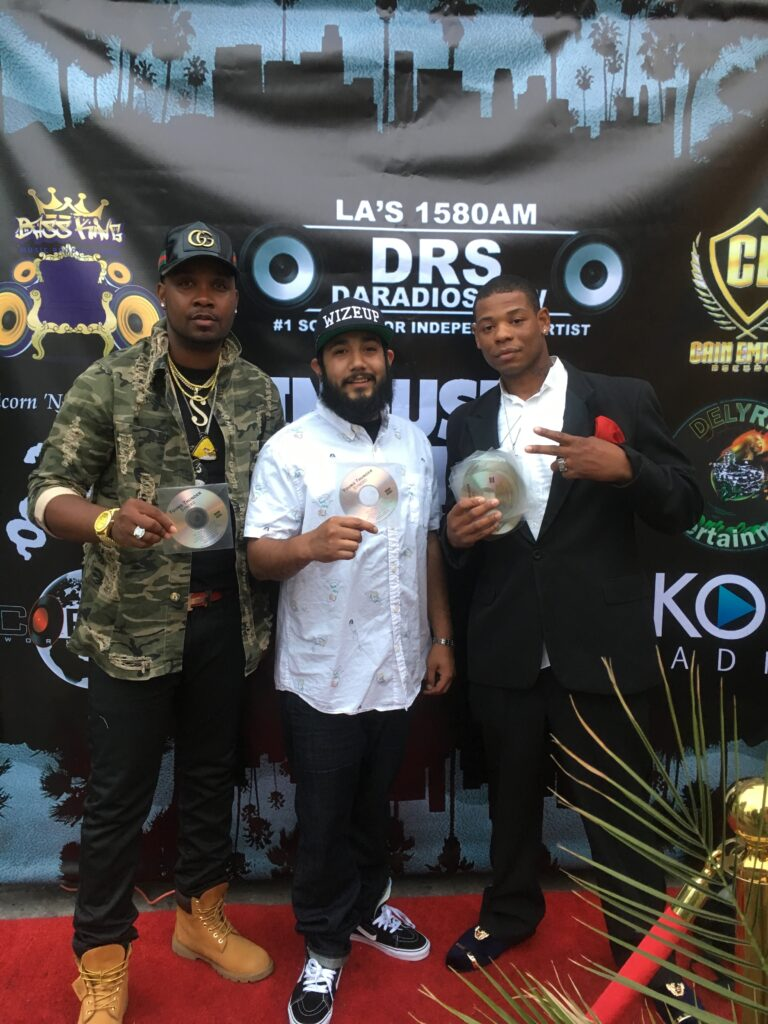 Young Thunder & Empire Radio, & singer Yung Muusik at DARADIOSHOW Industry Connects Pre-party in LA.