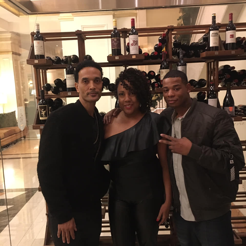 Young Thunder & Marie Lemelle from Platinum Star Pr and Chez of CMF entertainment in Indianapolis at the Conrad Hotel.