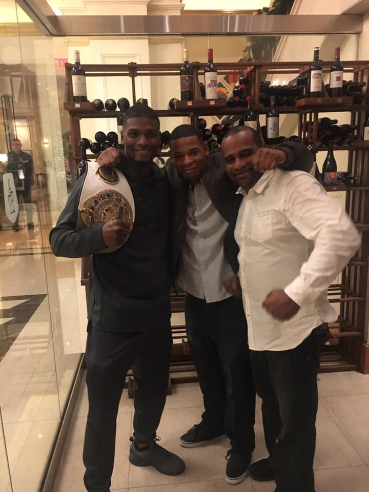 Young Thunder at the Conrad Hotel with the champ of the fight.