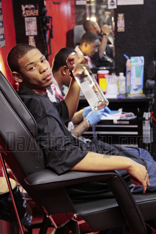 "Young Thunder's video shoot to his song ""Don't Slip"" shot at Tapout tattooing in Houston, Tx."