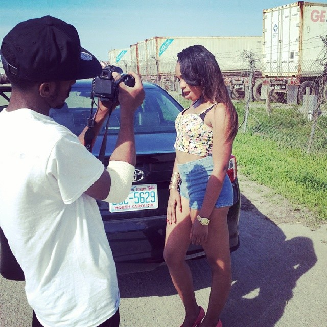 "BTS photoshoot at the Young Thunder video shoot to ""On Everythang"" in Norfolk Virginia."