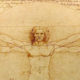 This image of Leonardo da Vinci's Vitruvian Man is used as the header image for the postural alignment article of the Ultimate Healing Guide on TheBodyIsMind.com