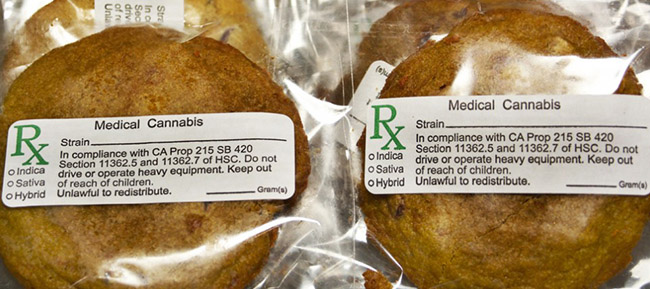 Cannabis-Edibles cookies