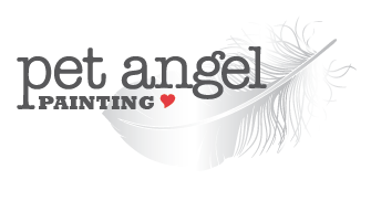 A Pet Angel Painting is a loving pet memorial print or a custom original portrait