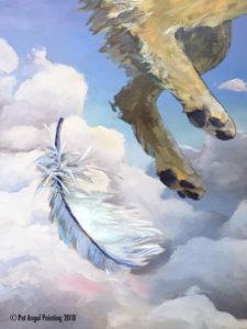 Golden Retriever Pet Angel Painting