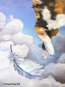 Calico Cat Pet Angel Painting