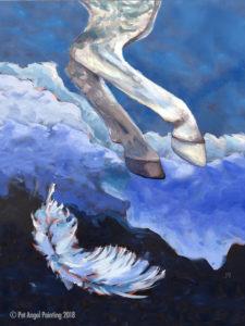 Dapple-grey horse Memorial Painting