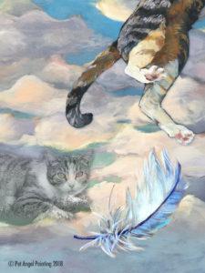 Tabby cat memorial