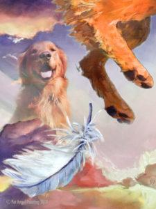 Red dog sunset pet memorial