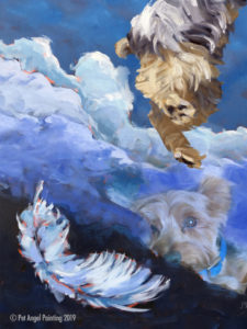 Yorkshire Terrier pet memorial painting