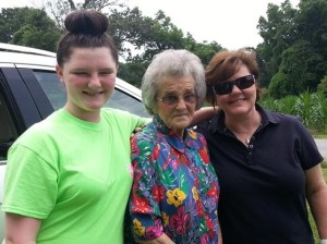 grandmother, taylor and me
