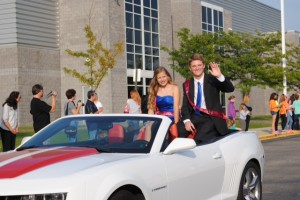 Michael riding in homecoming parade