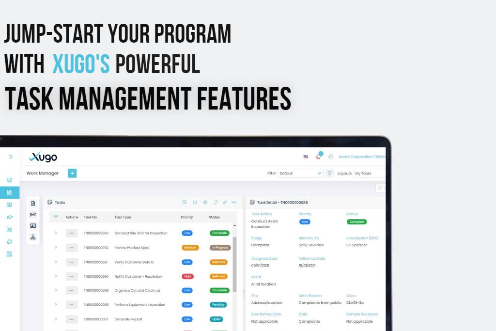 Xugo's task management features
