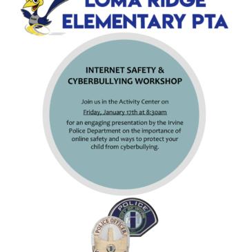 INTERNET SAFETY & CYBERBULLYING WORKSHOP