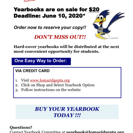 2020.05.03 Loma Ridge Yearbook Order