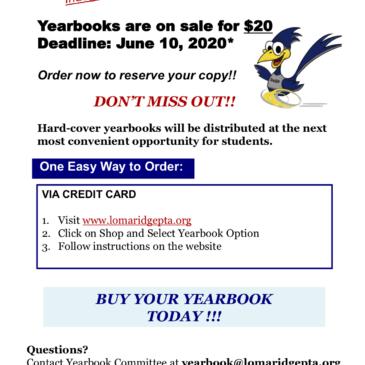 Inaugural Yearbook Orders