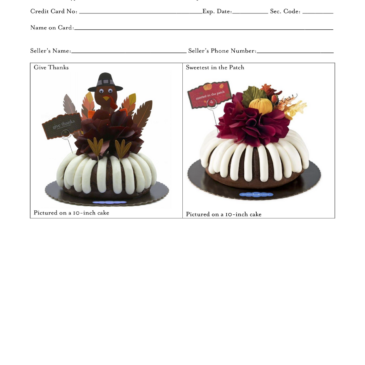 EXTENDED – November Take-Out! Nothing Bundt Cakes