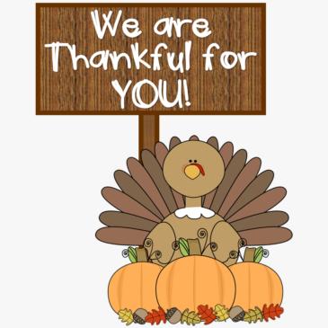 HAPPY THANKSGIVING ROADRUNNER FAMILIES!