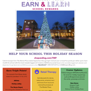 EARN & LEARN at The Market Place – School Rewards