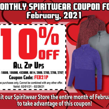 SPIRITWEAR FEBRUARY PROMOTION!