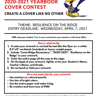 YEARBOOK COVER CONTEST – SUBMIT BY 4/7/21