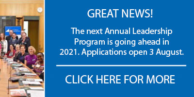 Annual Community Leadership Program will go ahead!