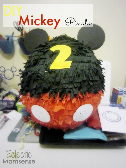Mickey Mouse Piñata- easy DIY piñata.