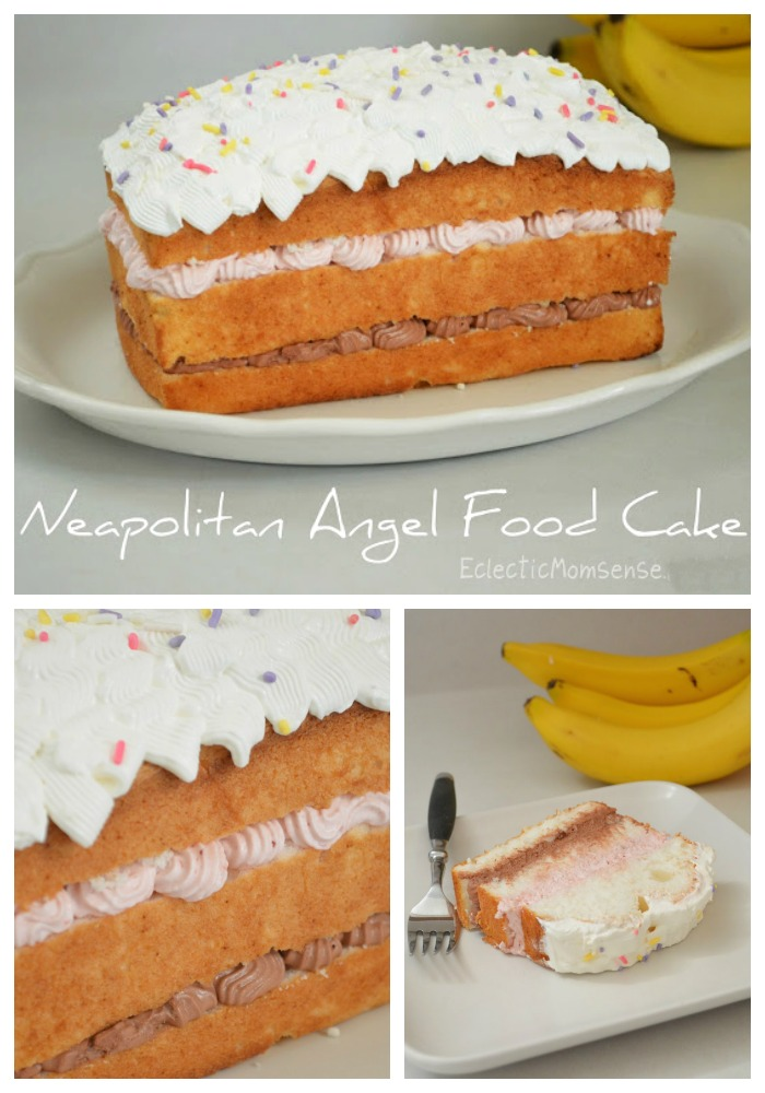 Neapolitan Angel Food Cake