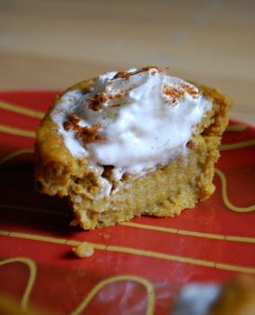 pumpkin cupcake innards