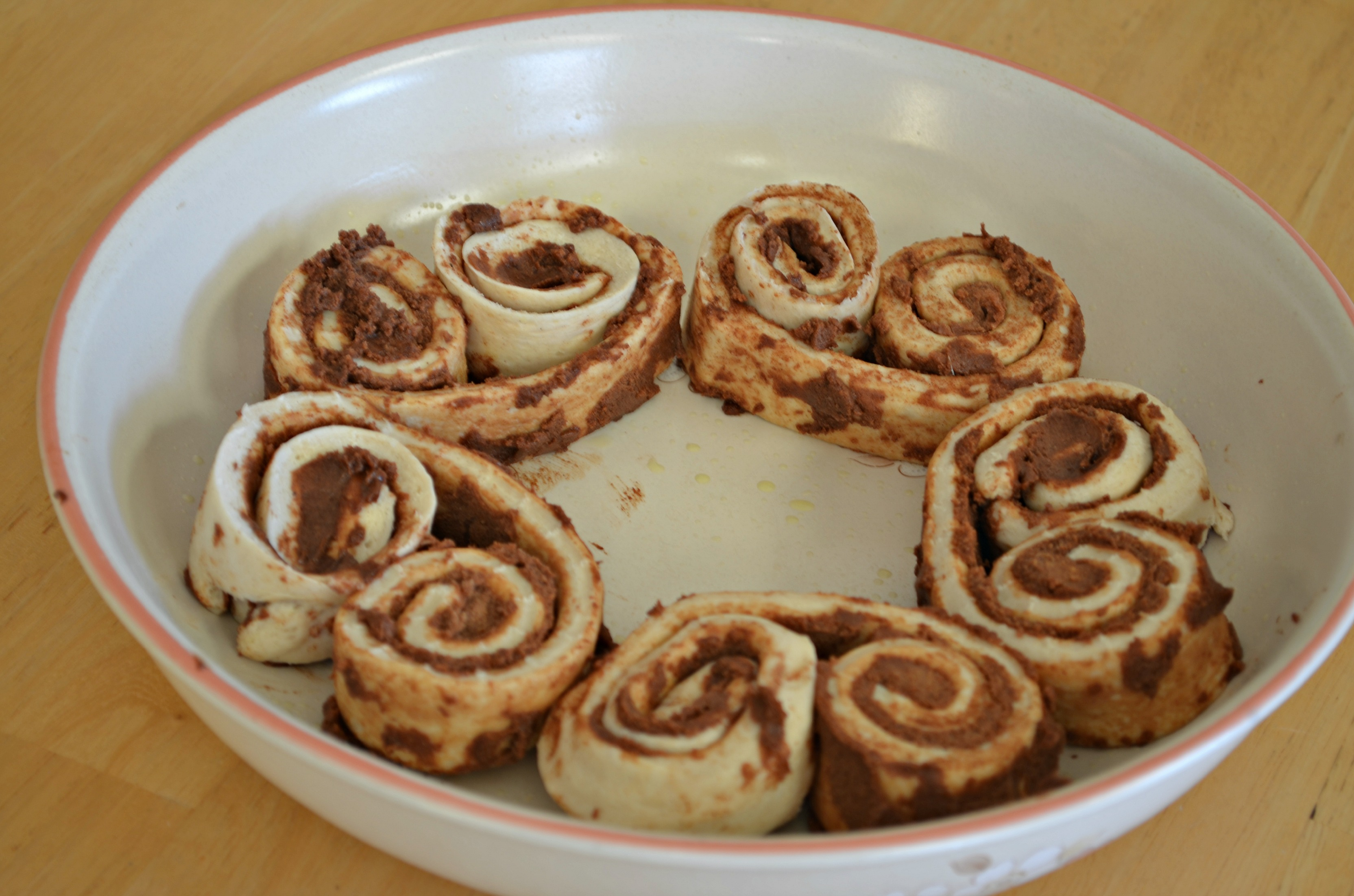 uncooked cinnamon rolls