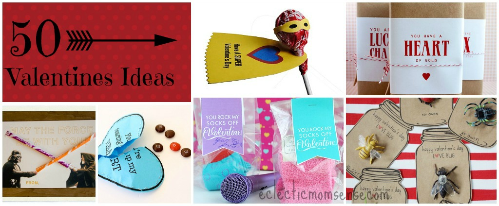 50 Valentines Ideas via @eclecticmommy - eclecticmomsense.com