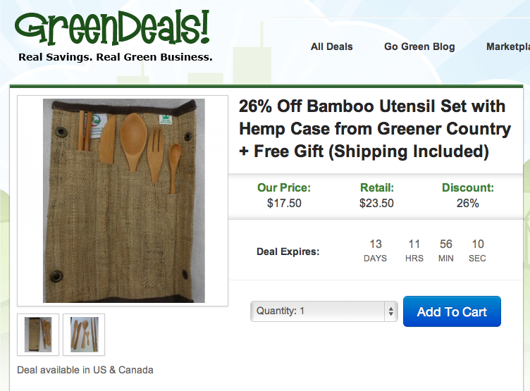 GreenDeals.org giveaway from eclecticmomsense.com