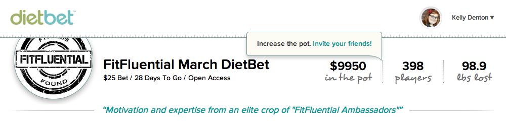March FitFluential DietBet