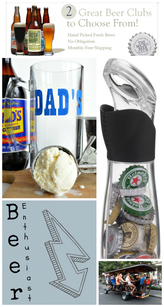 Great roundup of beers and tools for your beer enthusiast.