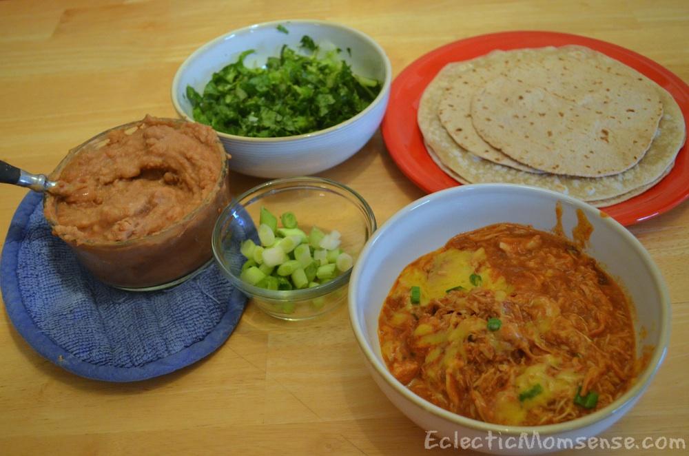 Crockpot Enchilada Chicken