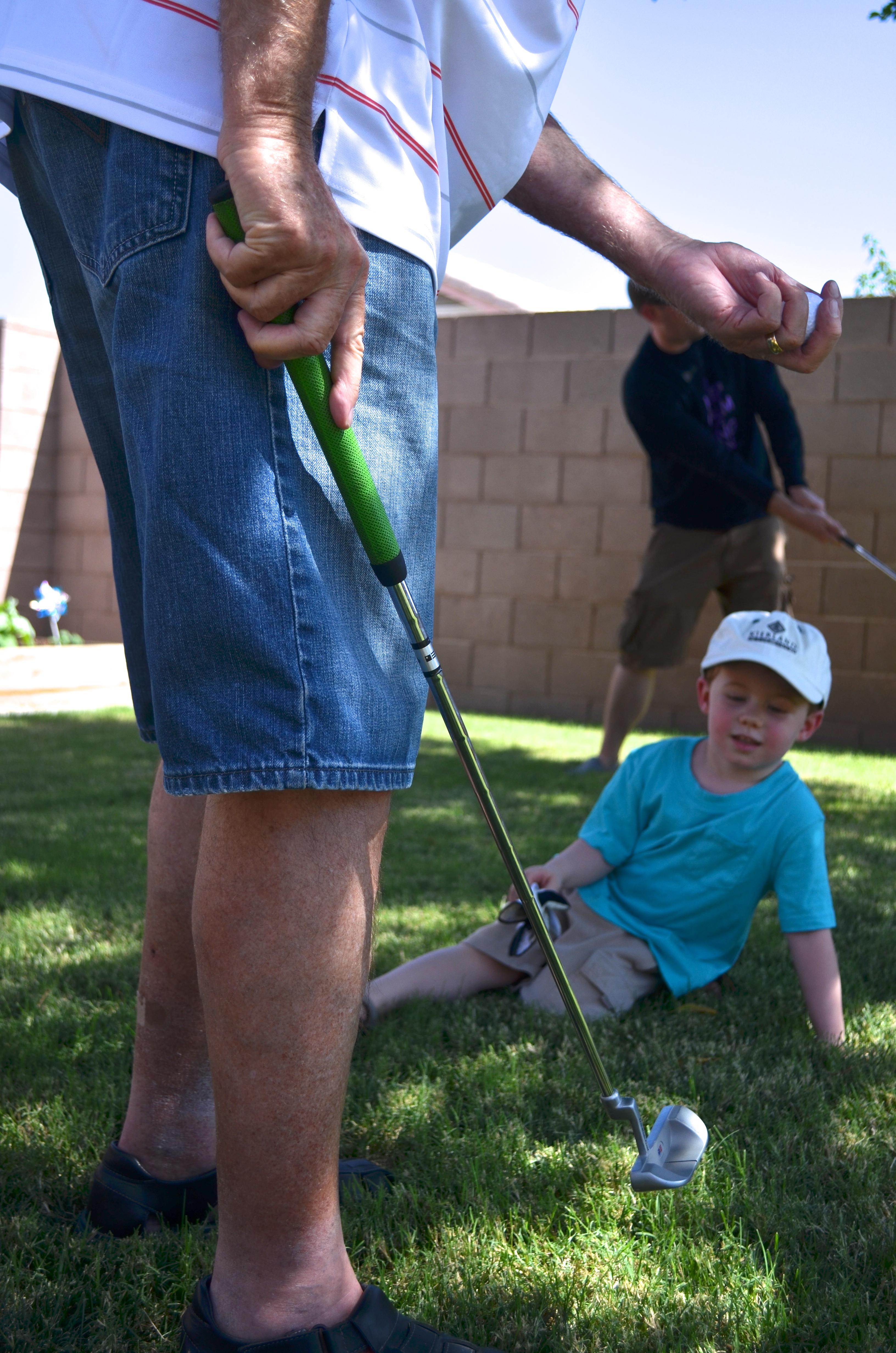 pops golfing