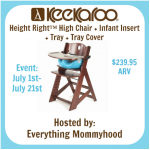 Keekaroo Height Right High Chair with Accessories Giveaway hosted by @darcibean