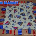 Handmade Baby Shower Gift: taggie blanket- Eclectic Momsense