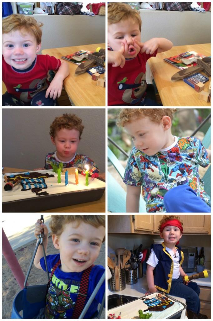 aiden's birthday Collage