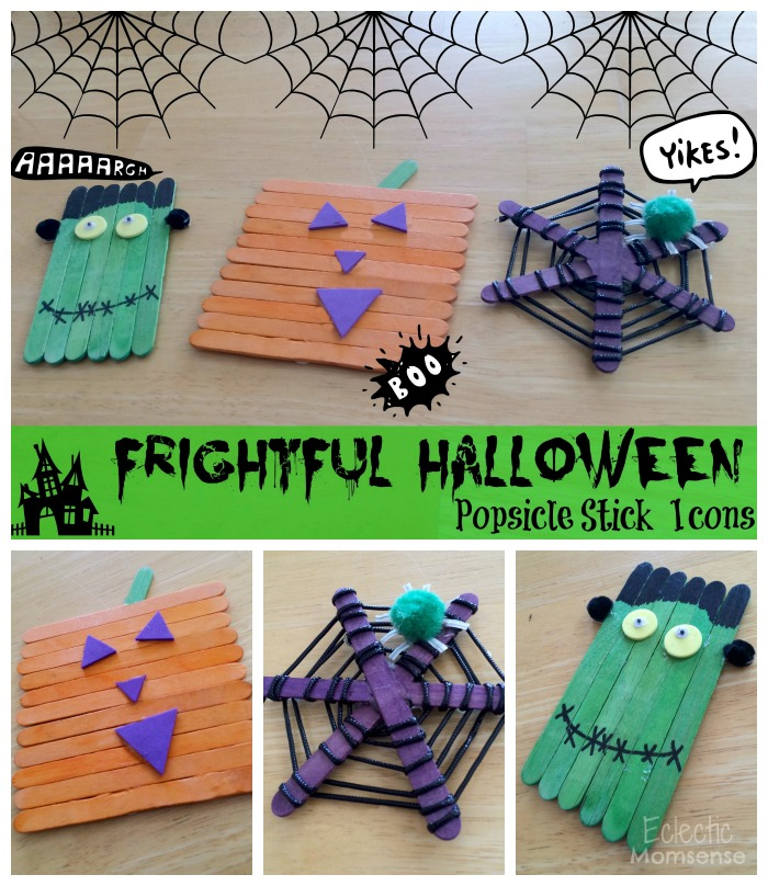Halloween Popsicle Stick Icons Eclectic Momsense