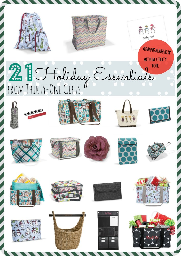 21 holiday essentials from thirty-one gifts