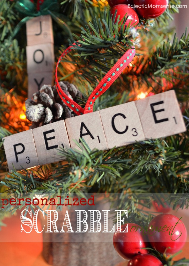 personalized scrabble ornament
