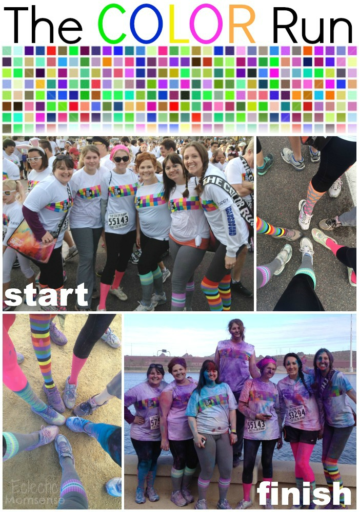 the color run before & after