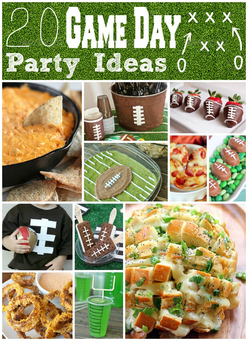 20 Game Day Party Ideas Food Crafts Decor Eclectic