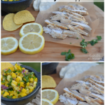 lemon pepper chicken with mango pineapple salsa Jungle Book, Walmart, #JungleFresh, #shop, #CollectiveBias