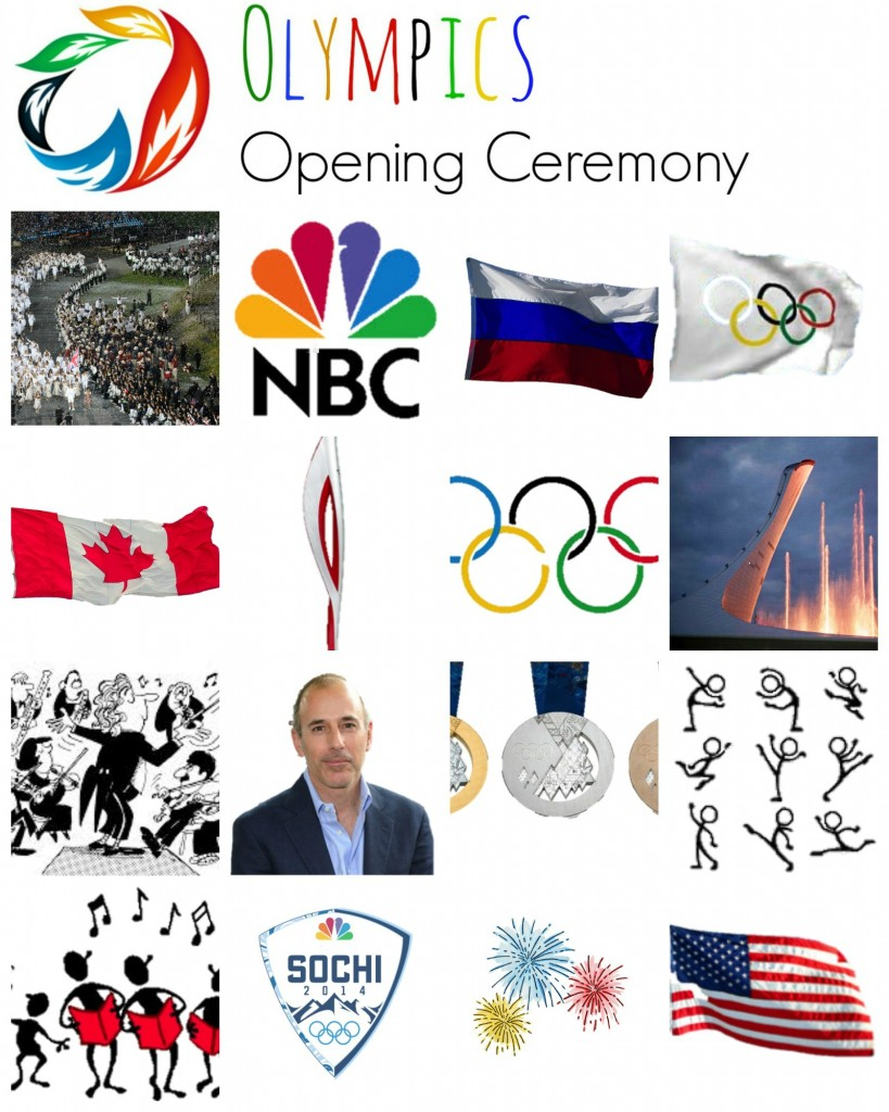 olympics opening ceremony scavenger hunt