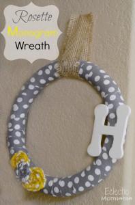 rosette monogram wreath
