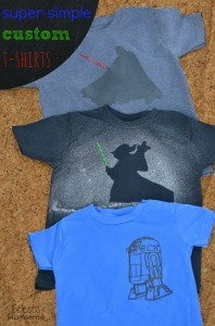 super-simple custom t-shirts #starwars #darthvader #r2d2 #yoda