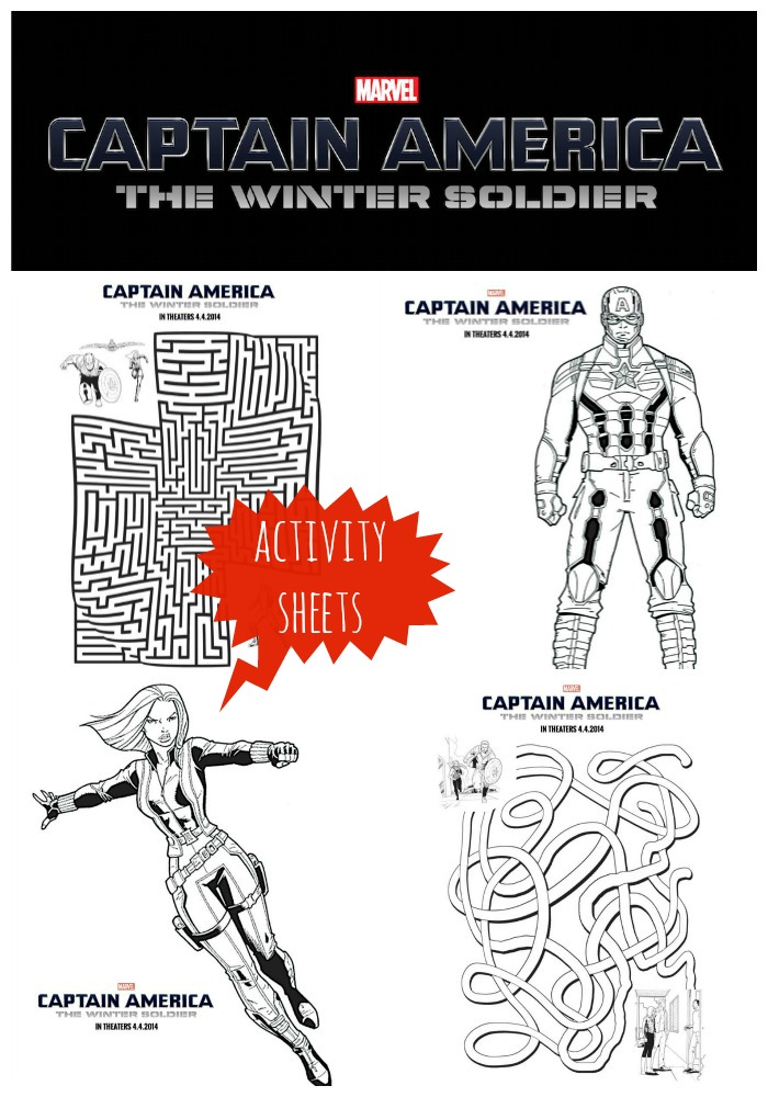Captain America The Winter Soldier ActivitySheets